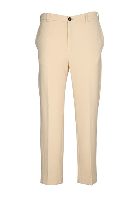 STRETCH COTTON CREAM PANTS GRIFONI | Pants | GG240011/460045