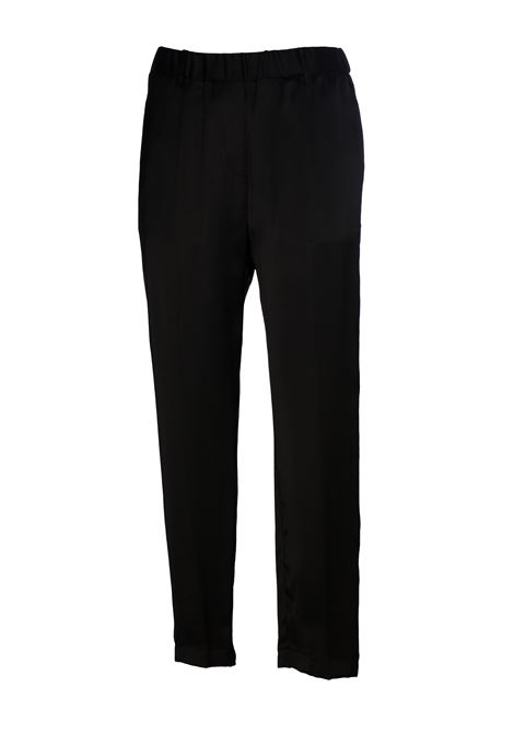 BLACK PANTS WITH GLOSSY FABRIC GRIFONI | Pants | GG240012/17003