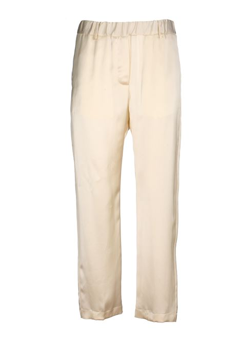 WHITE PANTS WITH GLOSSY FABRIC GRIFONI | Pants | GG240012/170045