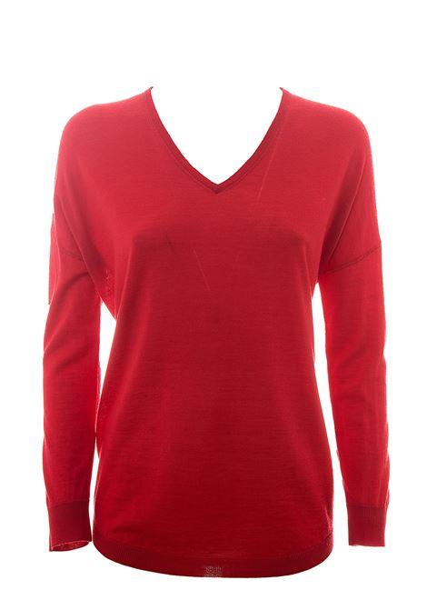 RED MERINO WOOL SWEATER HEMISPHERE | Sweaters | HES02014640-17414