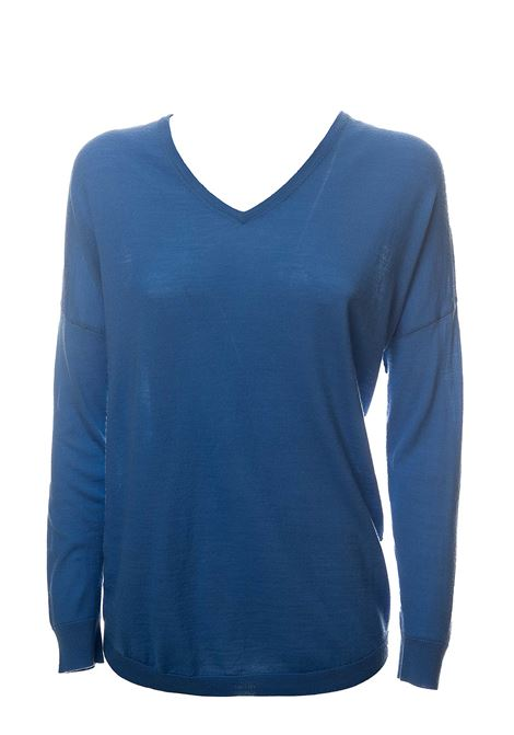 LIGHT BLUE MERINO WOOL SWEATER HEMISPHERE | Sweaters | HES02014640-17504