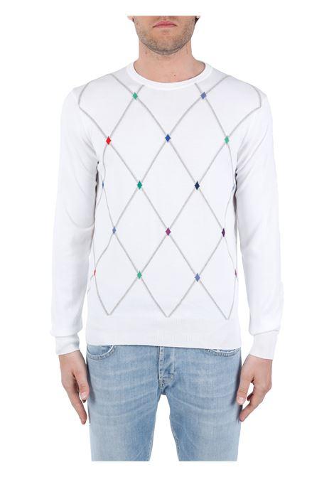 WHITE COTTON SWEATER KANGRA | Shirts | 09854001