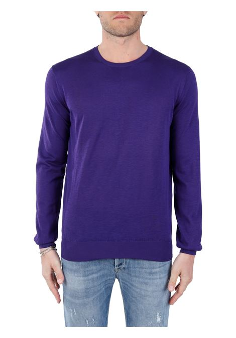 PURPLE SWEATER IN SILK BLEND KANGRA | Shirts | 10069020