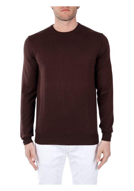 BROWN COTTON SWEATER KANGRA | Shirts | 1017072