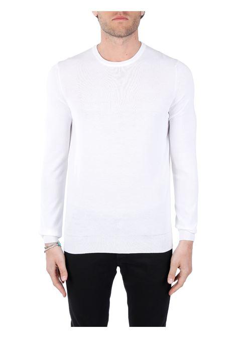 WHITE COTTON SWEATER KANGRA | Shirts | 23437001