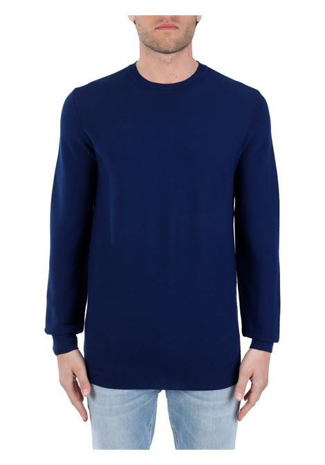 BLUE COTTON SWEATER KANGRA | Shirts | 90020160