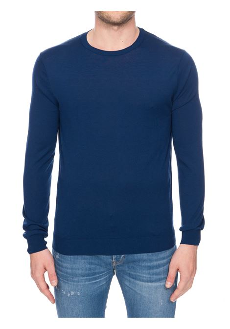 BLUE SWEATER WITH CREW NECK KANGRA | Sweaters | 90040160