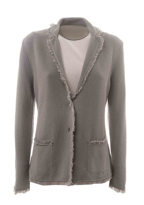 GRAY COTTON CARDIGAN WITH LUREX DETAIL KANGRA | Cardigans | 962057154