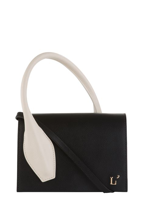 BLACK LEATHER BAG WITH CONTRAST HANDLE L'AUTRE-CHOSE | Bags | LBL0200192942G445NERO