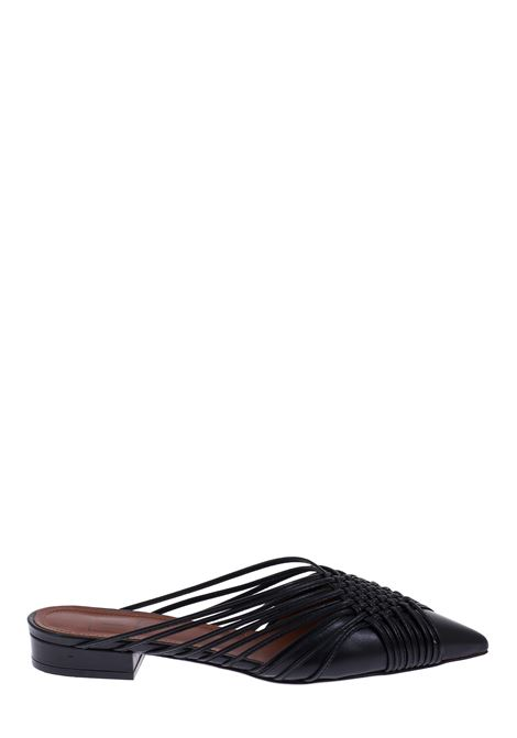 BLACK MULLE IN BRAIDED NAPPA L'AUTRE-CHOSE | Mules | LDL00620CP26151001NERO
