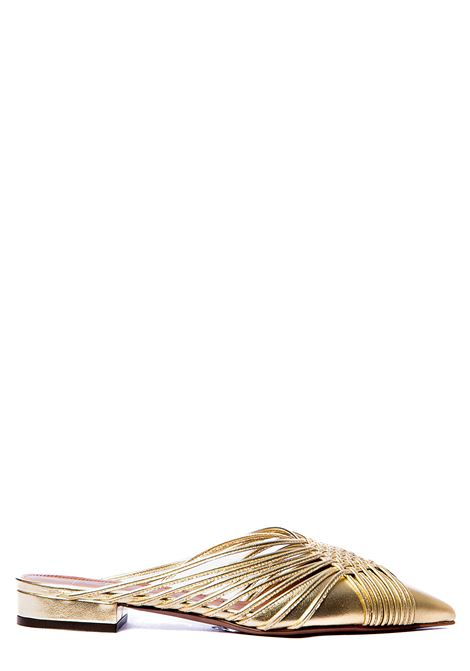 GOLD MULLE IN BRAIDED NAPPA L'AUTRE-CHOSE | Mules | LDL00620CP29145003MARRONE
