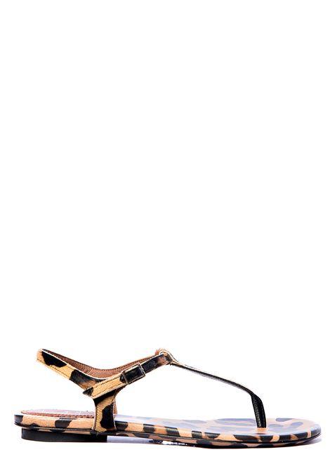 LEOPARD PRINT SHANTUNG SANDAL L'AUTRE-CHOSE | Slide Sandals | OSL132.05CC2104