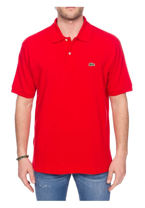 RED COTTON POLO WITH FRONT LOGO EMBROIDERY Lacoste | Polo Shirts | L1212240