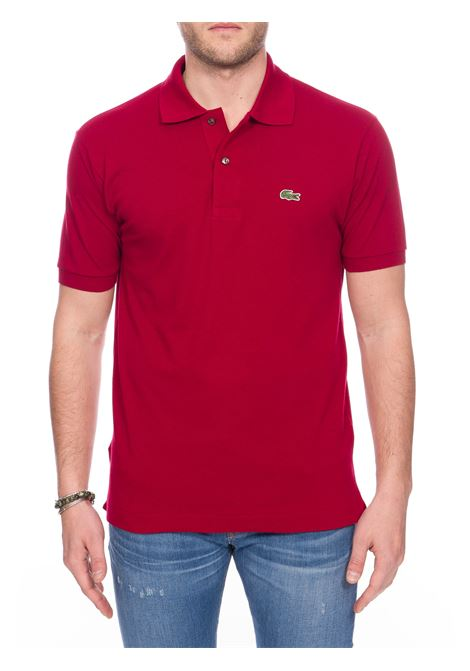 BORDEAX COTTON POLO WITH FRONT LOGO EMBROIDERY Lacoste | Polo Shirts | L1212476