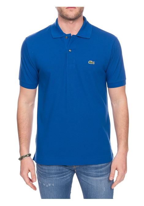 COBALT COTTON POLO WITH FRONT LOGO EMBROIDERY Lacoste |  | L1212Z7Z