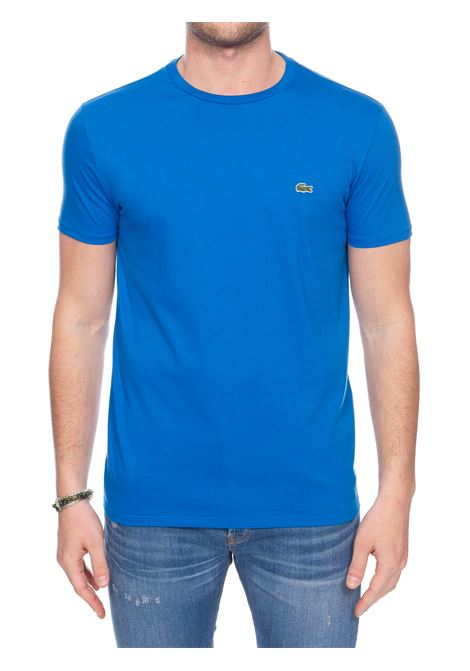 COBALT COTTON T-SHIRT WITH FRONT LOGO APPLICATION Lacoste |  | TH6709L61