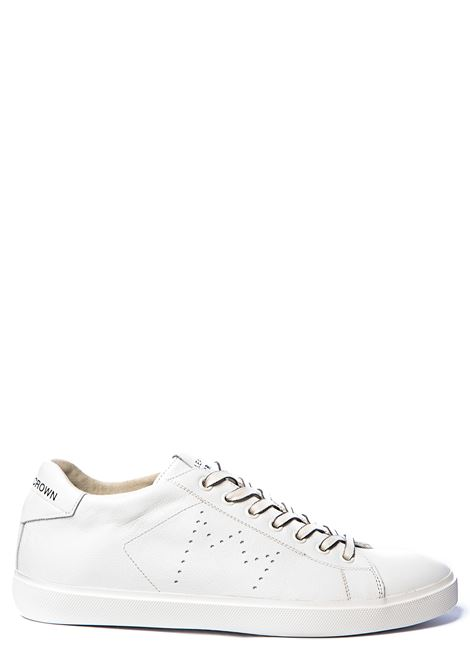 WHITE LEATHER SNEAKERS ICONIC WITH PERFORATED CROWN LEATHER CROWN | Sneakers | M-ICONIC20BIANCO
