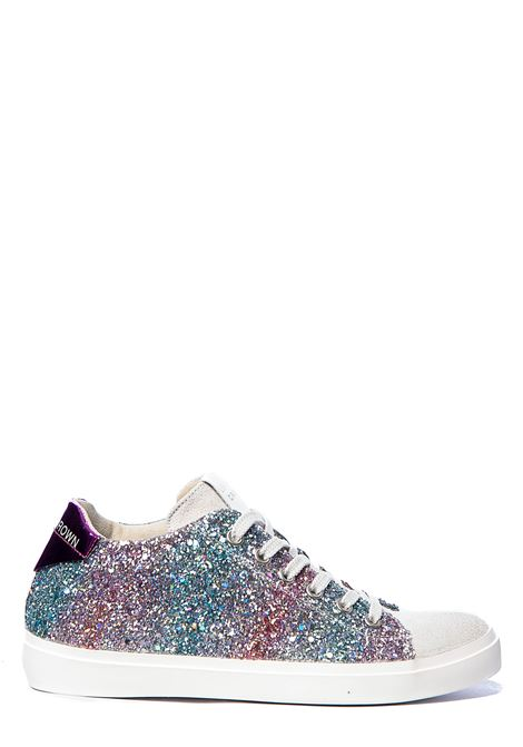 MULTICOLOR LEATHER SNEAKERS FULL GLIETTER LEATHER CROWN | Sneakers | W136615