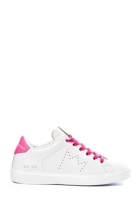WHITE LEATHER SNEAKERS WITH PERFORATED CROWN LEATHER CROWN | Sneakers | WLC06611