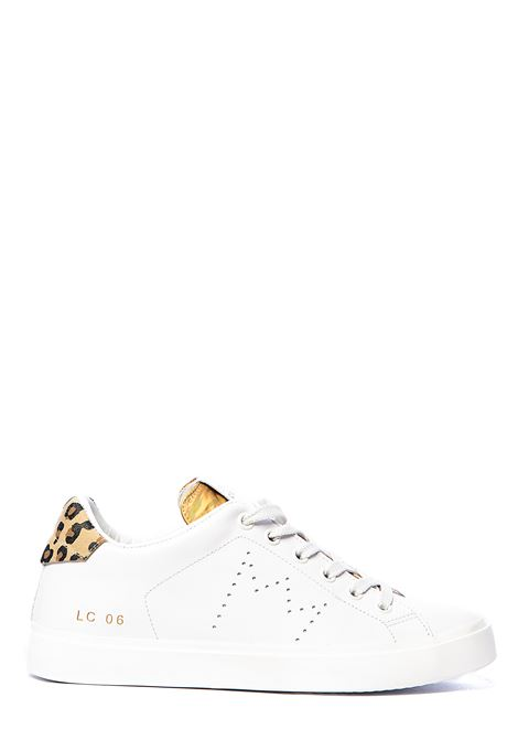 WHITE LEATHER SNEAKERS WITH PERFORATED CROWN LEATHER CROWN | Sneakers | WLC06614