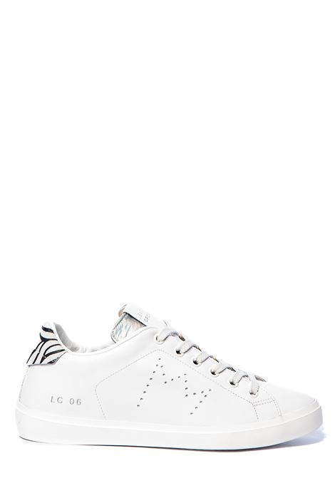 WHITE LEATHER SNEAKERS WITH PERFORATED CROWN LEATHER CROWN | Sneakers | WLC06650