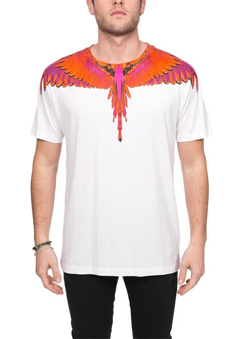WHITE T-SHIRT WITH PHOENIX PRINT IN COTTON MARCELO BURLON | T-shirt | CMAA018R20JER0040125