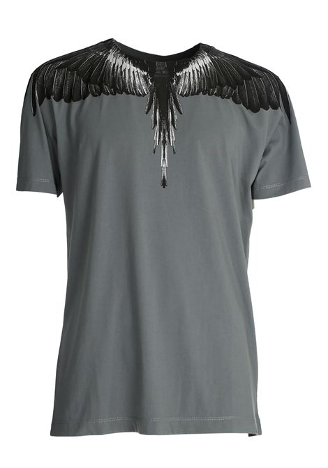 GRAY COTTON T-SHIRT WITH PHOENIX PRINT MARCELO BURLON | T-shirt | CMAA018R20JER0061110