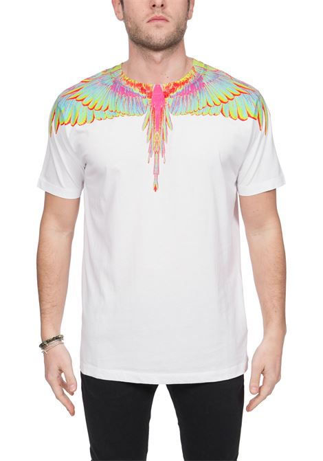WHITE T-SHIRT WITH PHOENIX PRINT IN COTTON MARCELO BURLON | T-shirt | CMAA018R20JER0080140