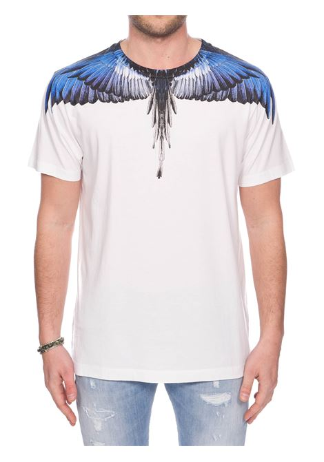 WHITE COTTON T-SHIRT WITH PHOENIX PRINT MARCELO BURLON | T-shirt | CMAA018S20JER0010145