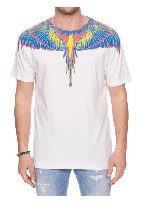 WHITE COTTON T-SHIRT WITH PHOENIX PRINT MARCELO BURLON | T-shirt | CMAA018S20JER0010184