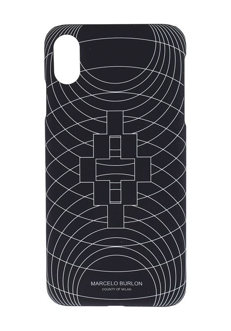 COVER NERA IPHONE XS MAX MARCELO BURLON | Cover | CMPA012R20MAT0041001