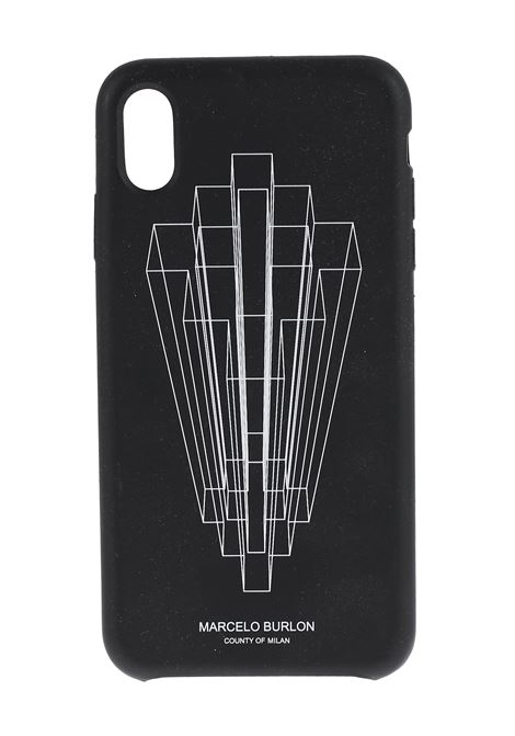 COVER NERA IPHONE XS MAX MARCELO BURLON | Cover | CMPA012R20MAT0101001