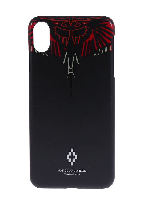 COVER NERA IPHONE XS MAX MARCELO BURLON | Cover | CMPA014R20MAT0011010