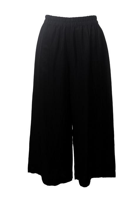 BLACK LINEN BLEND TROUSERS MAURIZIO | Pants | MZS01251569NERO