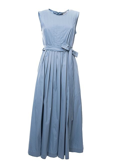 LONG BLUE COTTON DRESS EXTRA MODEL MAX MARA'S | Dress | 92210602600030