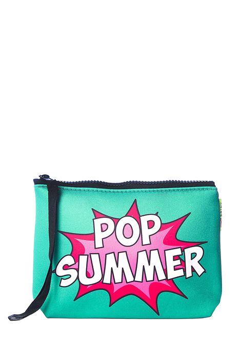 GREEN ALINE POP SUMMER 5701 CLUTCH BAG MC2SAINTBARTH | Clutches | ALINEPOSU50POPSUMMER5701VERDE