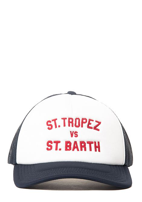 BLUE HAT BASEMAN EMB TROPEZ BARTH 61 MODEL MC2SAINTBARTH | Hats | BASEMANEMTB61blu