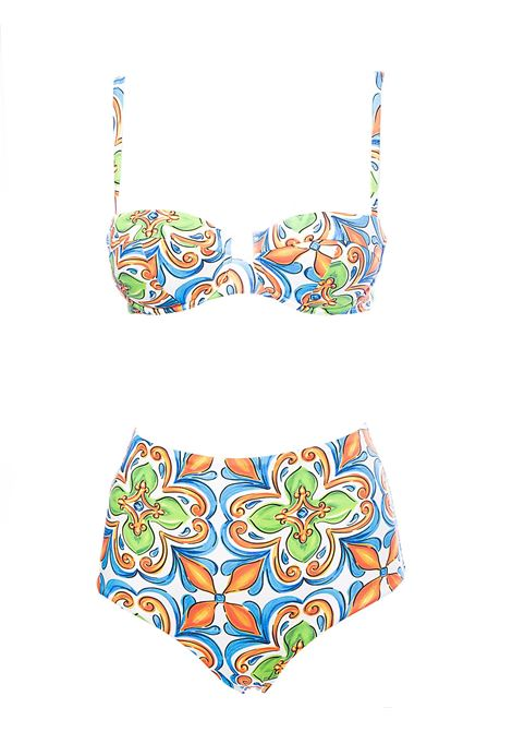 BIKINI SEA HIGH LIFE MAJOLICA PRINT SUNNY MAJOLICA 01 MC2SAINTBARTH | Swimsuits | BIRKEYSUMA01+BARDOTSUMA01MULTICOLOR