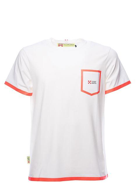 T-SHIRT BIANCA BLAKE WHITE B85 DETTAGLI FLUO IN COTONE MC2SAINTBARTH | T-shirt | BLAKE01B85BIANCO