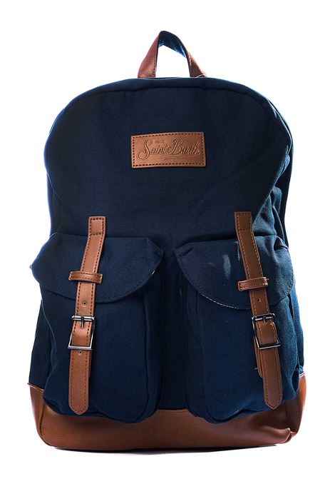BLUE CODY BLUE NAVY BACKPACK WITH FRONT LOGO APPLICATION MC2SAINTBARTH | Backpacks | CODY61BLU