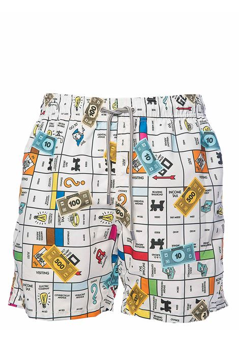 SEA COSTUME LIGHTWEIGHT FABRIC GUSTAVIA MONOPOLY01 MC2SAINTBARTH | Swimsuits | GUSTAVIAMNPL01MONOPOLY01MULTICOLOR