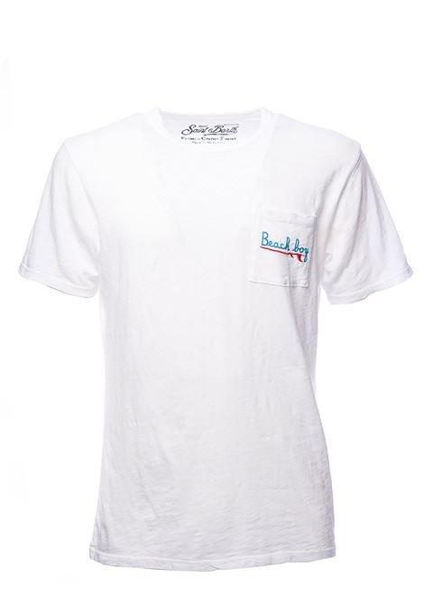 T-SHIRT BIANCA IN COTONE PRESIDENT EMB BEACH B 01 MC2SAINTBARTH | T-shirt | PRESIDENTEBHB01BIANCO