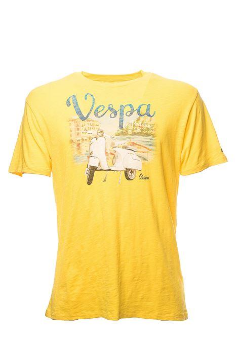 T-SHIRT GIALLA SKYLAR VESPA PORTO 91 IN COTONE MC2SAINTBARTH | T-shirt | SKYLARVPPO91VESPAPORTO91giallo