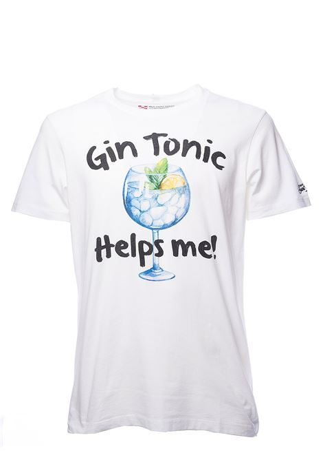 T-SHIRT BIANCA GIN HELPS 01 IN COTONE MC2SAINTBARTH | T-shirt | TSHM001GIHE01GINHELPSbianco