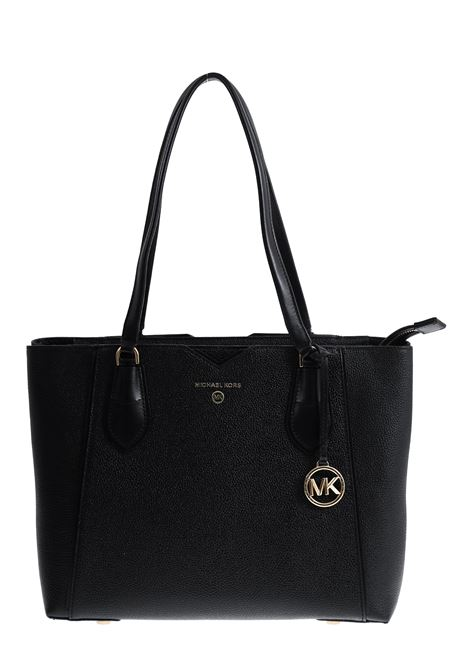 BLACK MAE BAG IN HAMMERED LEATHER MICHAEL DI MICHAEL KORS | Bags | 30H9GM5T2L001MAE001