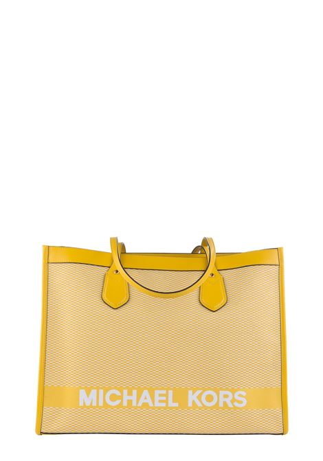 BICOLOR BAY BAG IN COTTON WITH FRONT LOGO EMBROIDERY MICHAEL DI MICHAEL KORS | Bags | 30H9GYIT7C719BAY719