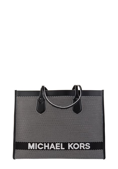 BICOLOR BAY BAG IN COTTON WITH FRONT LOGO EMBROIDERY MICHAEL DI MICHAEL KORS | Bags | 30H9SYIT7C012BAY012