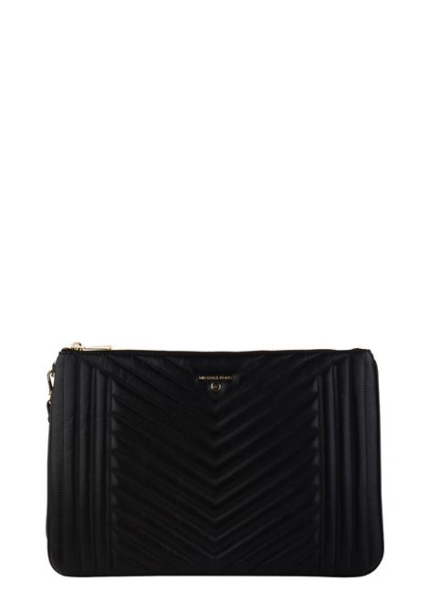 BLACK CLUTCH IN QUILTED LEATHER MICHAEL DI MICHAEL KORS | Clutches | 32H9GT9W4T001JETSETCHARM001