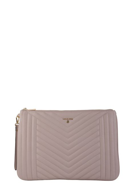 PINK CLUTCH IN QUILTED LEATHER MICHAEL DI MICHAEL KORS | Clutches | 32H9GT9W4T187JETSETCHARM187
