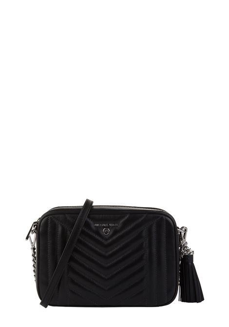 BLACK LEATHER BAG WITH CHEVRON PROCESSING MICHAEL DI MICHAEL KORS | Bags | 32H9ST9M2T001JETSETCHARM001